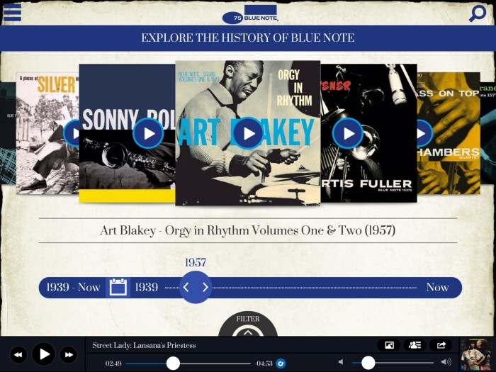 BLUE NOTE RECORDS LANSERER APP